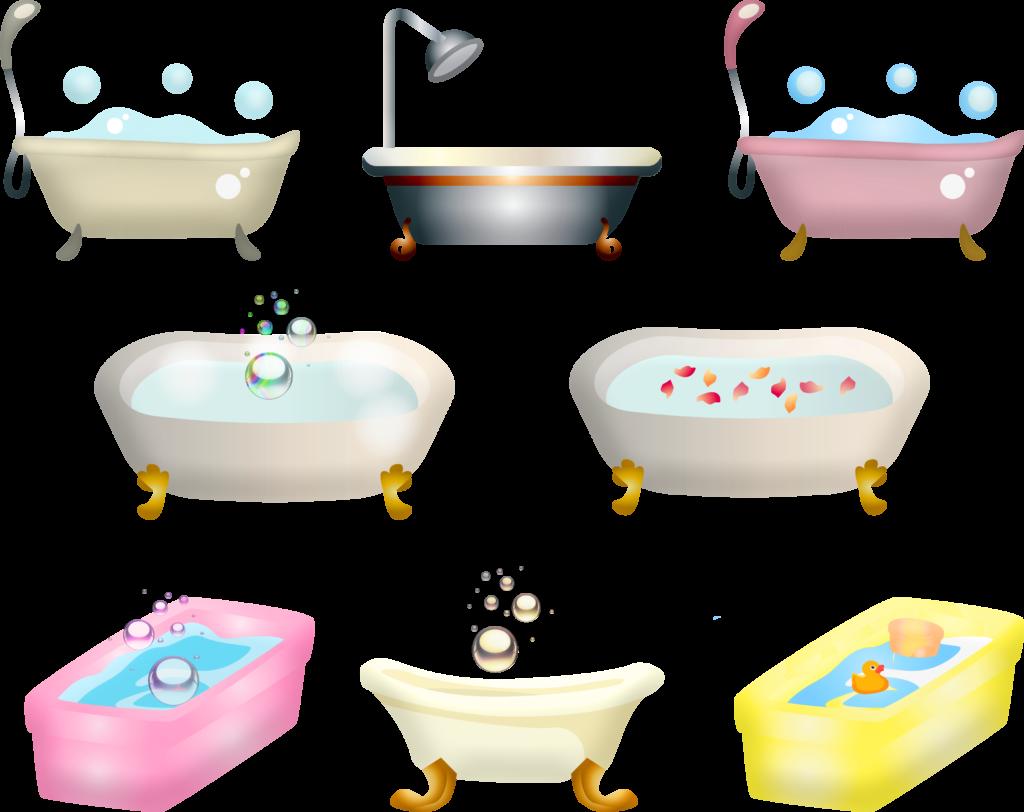 bathtub, bath, bubbles