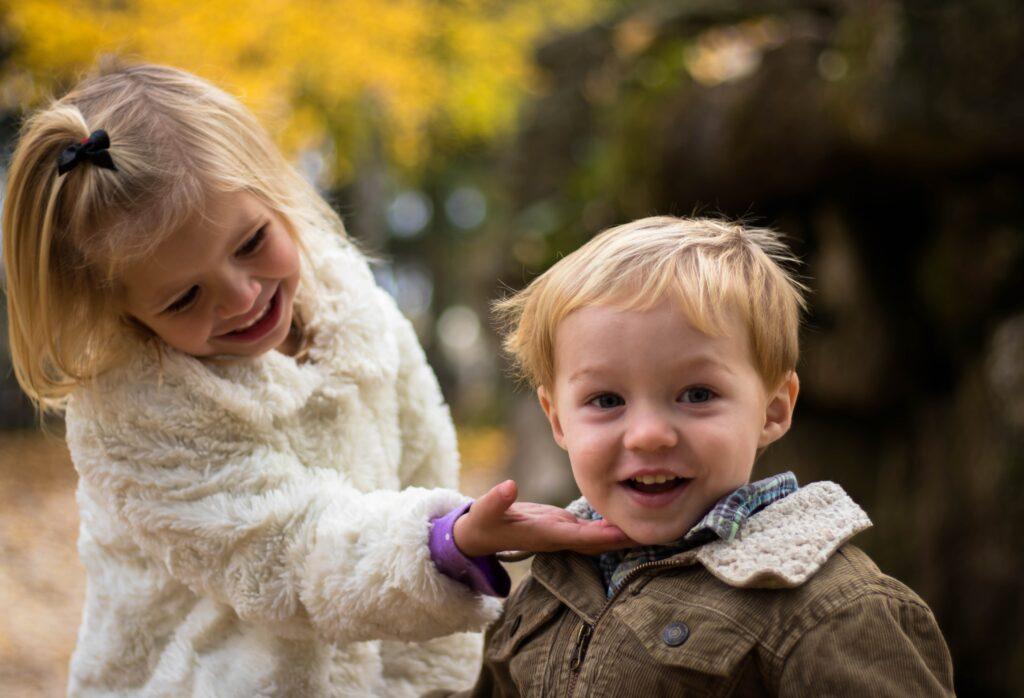 children, brother, sister