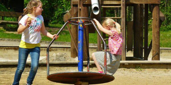children playing, playground, children