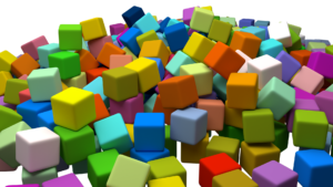 cubes, assorted, boxes