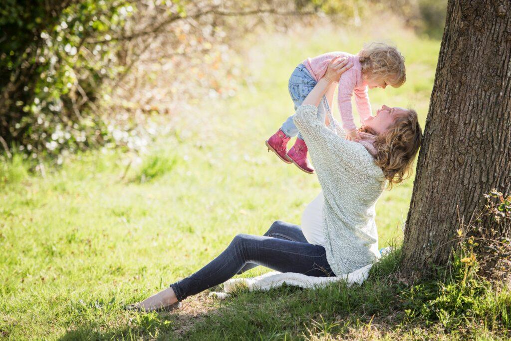 park, mother, girl