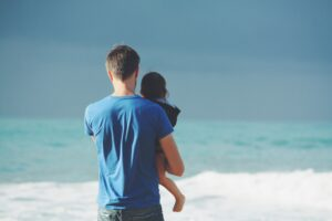 parent, father, holding