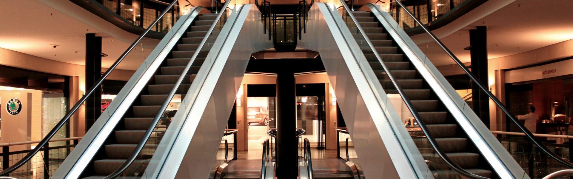 escalator, stairs, metal segments